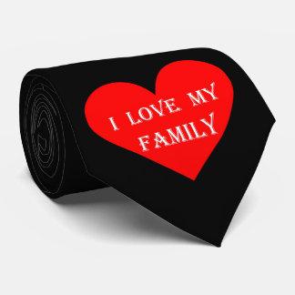 Heart I Love My Family Tie