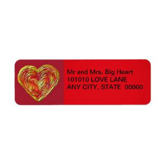 Heart Icing Return Address Label