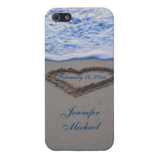 Heart in Beach Sand  Special Date iPhone 5/5S Case