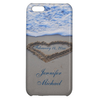 Heart in Beach Sand  Special Date iPhone 5C Cover