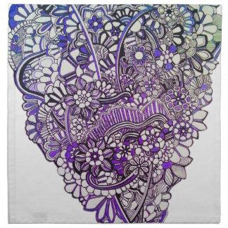 Heart in flowers napkin
