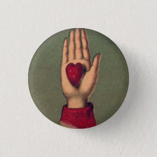 Heart in Hand 1 Inch Round Button