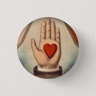 Heart in Hand 3 Cm Round Badge