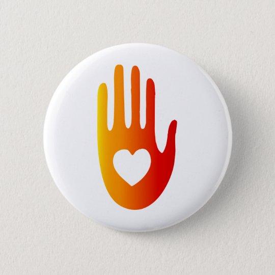 Heart in Hand 6 Cm Round Badge