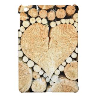 Heart in logs iPad mini covers