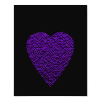 Heart in Purple Colors. Patterned Heart Design. 11.5 Cm X 14 Cm Flyer