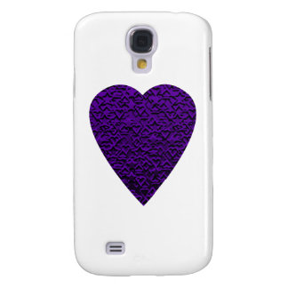Heart in Purple Colors. Perned Heart Design. Galaxy S4 Case