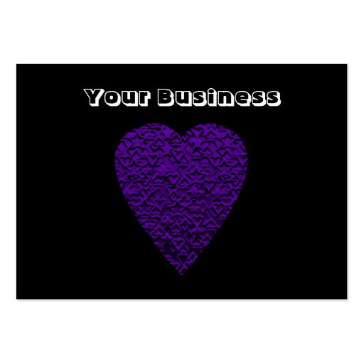 Heart in Purple Colours. Patterned Heart Design. Pack Of Chubby Business Cards