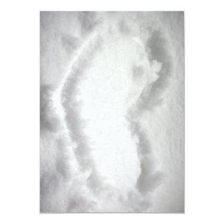 Heart-in-snow1654.jpg SNOW WINTER HEART SHAPE OUTL 13 Cm X 18 Cm Invitation Card