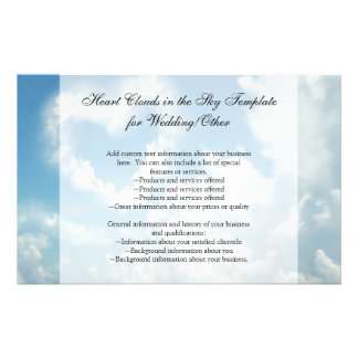 Heart in the Clouds, Blue Sky Romantic Love 14 Cm X 21.5 Cm Flyer