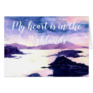 Heart in the Highlands Watercolour Greetings Card