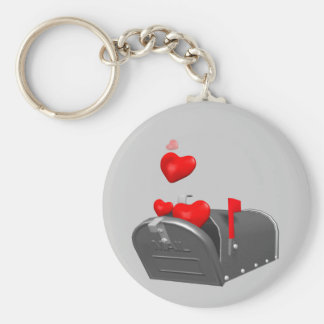 Heart In The Mail T-shirts and Gifts Keychains