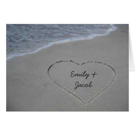 Heart in the Sand Beach Happy Anniversary Card