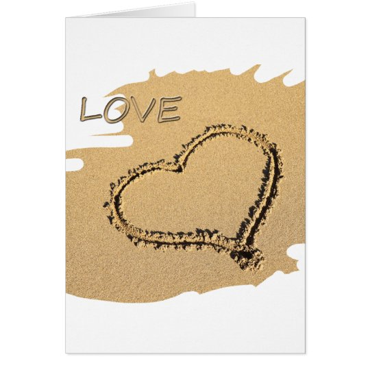 Heart in the sand card