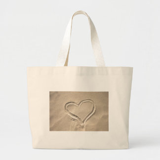 Heart In The Sand Canvas Bag