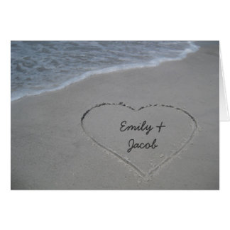 Heart in the Sand Wife Happy Anniversary Card