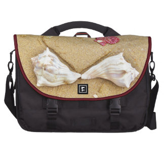 heart in the sand with shells bags for laptop