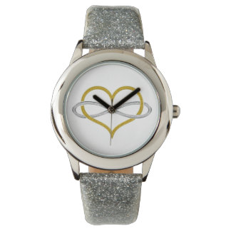 Heart Infinity Gold Silver Watch