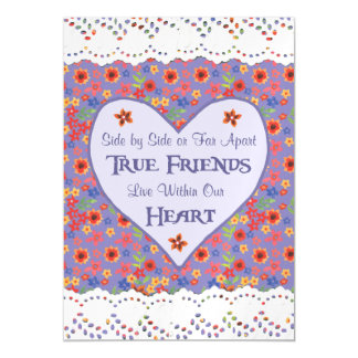 Heart Inspirational Friendship Quote Magnetic Card Magnetic Invitations