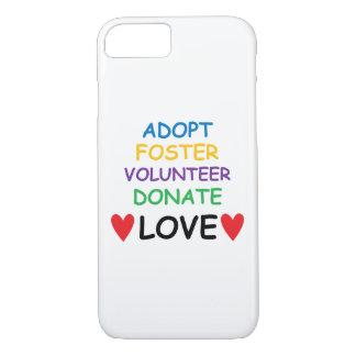 Heart iPhone Case, Rescue Dog Adopt Volunteer Love iPhone 7 Case