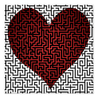 Heart is a Maze Print