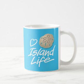 Heart Island Life Mug with Sand Dollar