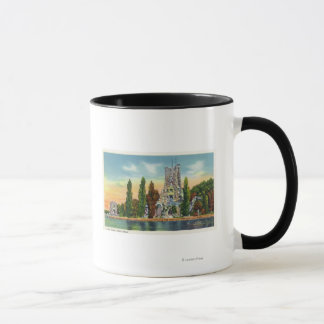 Heart Island View of Alster Tower Mug