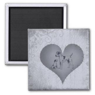 Heart Jack Russel Magnet