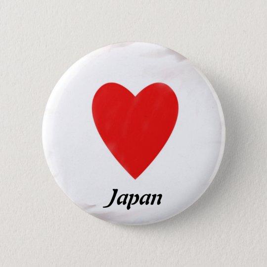 Heart Japan 6 Cm Round Badge