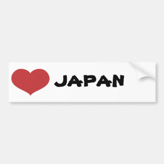Heart Japan Bumper Sticker