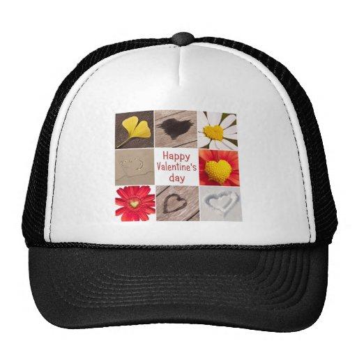 Heart joining Happy Valentine' S day Trucker Hats