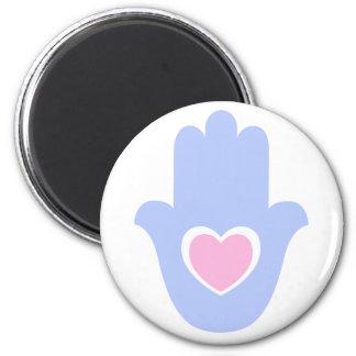 Heart Kamsa 6 Cm Round Magnet