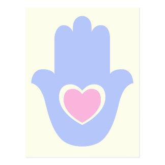 Heart Kamsa Postcard