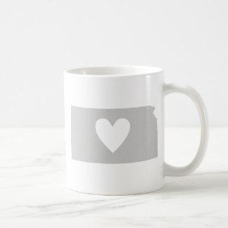 Heart Kansas state silhouette Coffee Mug