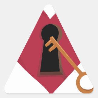 Heart Key Triangle Sticker