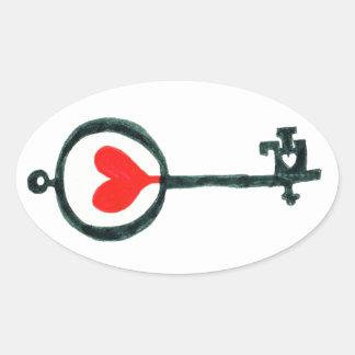Heart Key Sticker