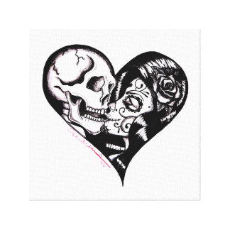 Heart Kiss by Skinderella - Canvas Art Gallery Wrap Canvas