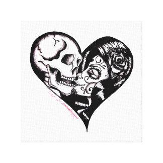 """Heart Kiss"" by Skinderella - Canvas Art"