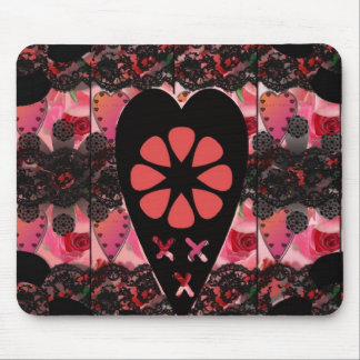 """Heart & Kisses floral iPhone Cases"".* Mouse Pad"