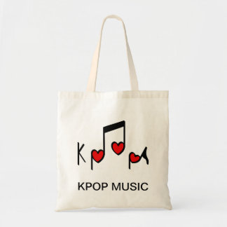 Heart Korean Pop Music! Budget Tote Bag