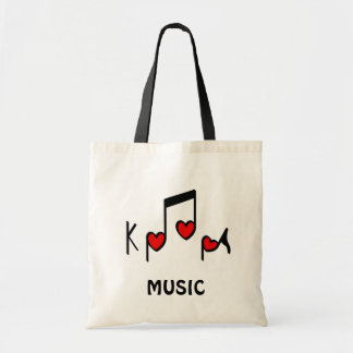 Heart Korean Pop music!  KPOP! Tote Bag