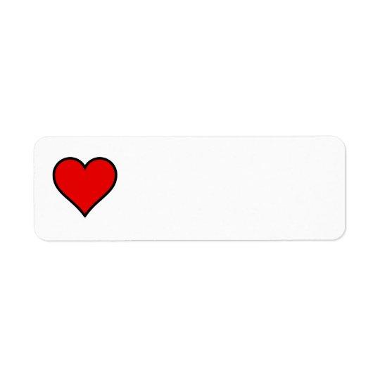 Heart Label Return Address Label