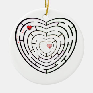 HEART LABYRINTH CHRISTMAS ORNAMENT