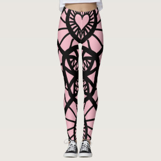 Heart lace Design Leggings