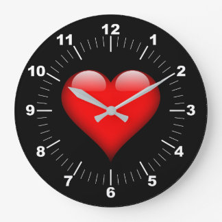 Heart Large Clock