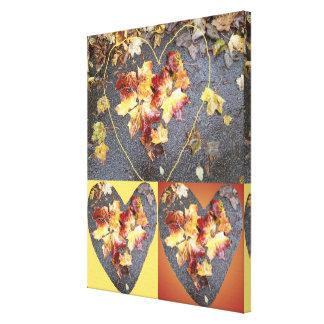 Heart Leaf Group 2 Canvas Print