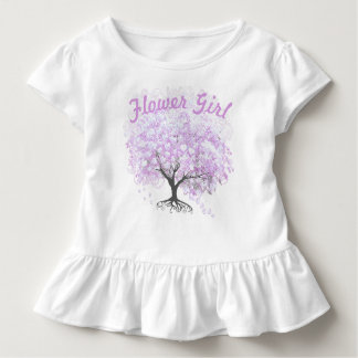 Heart Leaf Lavender Tree Vintage Bird Wedding Toddler T-Shirt