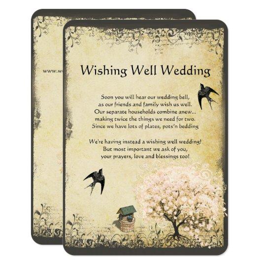 Heart Leaf Pink Tree Vintage Wishing Well Wedding
