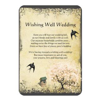 Heart Leaf Pink Tree Vintage Wishing Well Wedding Personalized Invitation