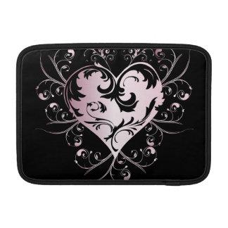 Heart light pink MacBook air sleeves